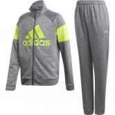 adidas - Badge of Sport Track Suit Boys dark grey heather semi solar slime