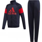 adidas - Badge of Sport Track Suit Boys legend ink scarlet