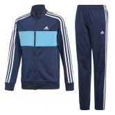 adidas - Tiberio Trainingsanzug Jungen collegiate navy shock cyan white