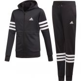 adidas - Hooded Track Suit Girls black white