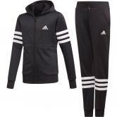 adidas - Hooded Trainingsanzug Mädchen schwarz weiß