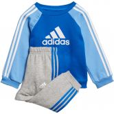 adidas - Logo Fleece Jogger Set Infant blue white