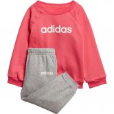 adidas - Linear Fleece Baby Jogginganzug real pink medium grey heather white