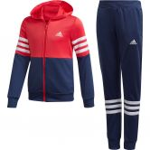 adidas - Hooded Trainingsanzug Mädchen core pink tech indigo white