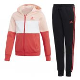 adidas - Hooded Trainingsanzung Mädchen haze coral real coral white black