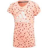 adidas - Must Haves Graphic T-Shirt Mädchen glow pink active maroon white