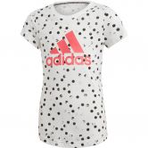 adidas - Must Haves Graphic T-shirt Girls white black real pink