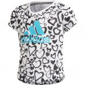 adidas - Must Haves Graphic T-Shirt Mädchen white black signal cyan