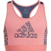 adidas - Designed To Move Leopard Bustier Mädchen hazy rose crew navy