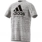 adidas - Sport ID T-Shirt Kinder medium grey heather black