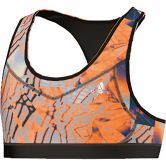 adidas - Techfit Bra Sport-BH Kinder clear granite solar gold unity purple matte silver