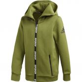 adidas Climawarm Hooded Jacket Boys tech olive white at