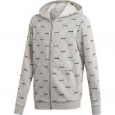 adidas - Cover-Up Kapuzenjacke Jungen medium grey heather black