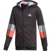 adidas - Must Haves Aeroready 3-Streifen Kapuzenjacke Jungen black signal pink glory grey