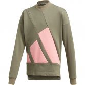 adidas - The Pack Crew Sweatshirt Girls legacy green glory pink