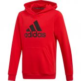adidas - Must Haves Badge of Sport Hoodie Boys vivid red black