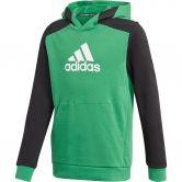 adidas - Logo Hoodie Jungen core green black white