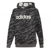 adidas - Linear Hoodie Boys dark grey heather black white