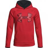 Under Armour - Armour® Fleece Big Logo Hoodie Jungen rot