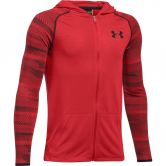 Under Armour - Threadborn Kapuzenjacke Jungen rot/schwarz