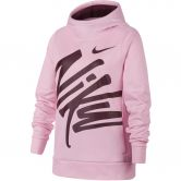 Nike - Dri-FIT Therma Graphic Training Hoodie Girls pink foam bordeaux