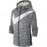 Nike - Therma Full Zip Hoodie Kids black heather white