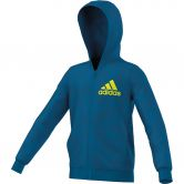 adidas - Essentials Full Zip Hoodie AOP Kinder unity blue tech steel