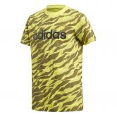adidas - Linear Print T-Shirt Jungen shock yellow dgh solid grey black
