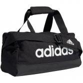 adidas - Essentials Logo Duffel Bag XS black white