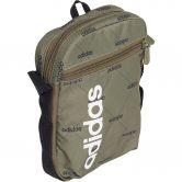 adidas - Linear Graphic Organizer Bag raw khaki black white