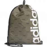 adidas - Linear Gym Sack raw khaki black white