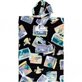 Quiksilver - Hoody Towel Surf Poncho Boys black