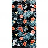 Roxy - Pretty Simple Beach Towel anthracite hibiscus