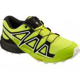 Salomon - Speedcross J Running Shoe Kids acid lime lime green white