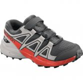 Salomon - Speedcross CSWP K Kinder black lunar rock cherry tomato