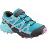 Salomon - Speedcross CSWP K Kinder scuba blue tanager turquoise orchid
