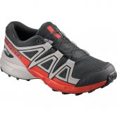 Salomon - Speedcross CSWP J Kinder black lunar rock cherry tomato