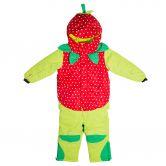 Flashy Stars - Erdbeere Schneeanzug 2-Teiler Kinder grün-rot