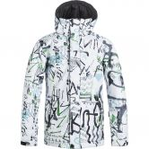 Quiksilver - Mission Printed Youth Jacke Jungen hieline white