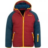 Trollkids - Hafjell Pro Snow Jacket Kids mystic blue rusty red