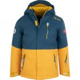 Trollkids - Hallingdal Ski Jacket Kids mystic blue golden yellow