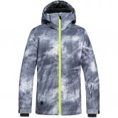 Quiksilver - Mission Printed Youth Ski Jacket Boys grey simple texture
