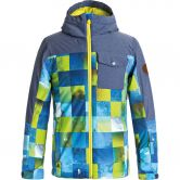 Quiksilver - Mission Block Jacke Jungen blue sulphur icey check