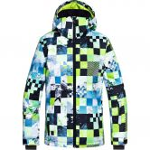 Quiksilver - Mission Printed Youth Ski Jacket Boys lime green