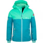 Trollkids - Hallingdal Ski Jacket Girls light petrol dark mint white