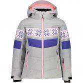 CMP - Snaps Hood Snow Jacket Kids argento melange