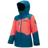 Picture - Leeloo Skijacket Kids petrol blue