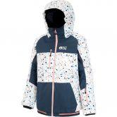 Picture - Kalmie Ski Jacket Kids terrazo white