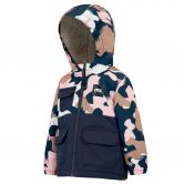 Picture - Snowy Ski Jacket Kids pink painter