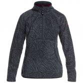 Roxy - Cascade Fleece Pullover Girls true black zebra print
